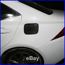 For LEXUS IS300 200t 2013-2019 Real Carbon Fiber Fuel Tank Cap Gas Oil Box Cover