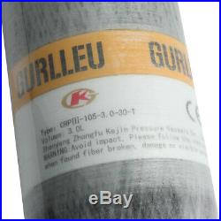 GURLLEU 3L PCP SCBA Tank 4500psi High Pressure Composite Carbon Fiber Cylinder