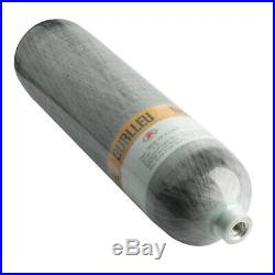 GURLLEU Carbon Fiber Diving 3L CE 4500psi High Pressure Tank Scuba PCP Cylinder