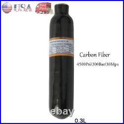 GURLLEU PCP Paintball Scuba 0.3L CE 30Mpa HPA Tank Air Bottle Carbon Fiber