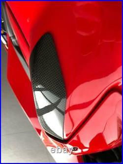 Glossy Plain Carbon fiber tank protectors Ducati Panigale V4