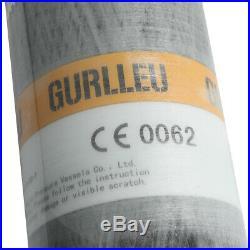 Gurlleu Carbon Fiber Diving 3L CE 4500psi Tank Scuba PCP Cylinder For Breathing