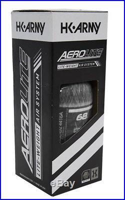 HK ARMY AeroLite Carbon Fiber HPA Paintball Tank 68ci / 4500psi Clear Carbon