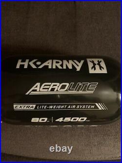 HK Army AeroLite Carbon Fiber HPA Tank 80ci 4500psi AeroLite Reg- Black