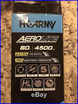 HK Army Aerolite 2 Pro 80/4500 Carbon Fiber Paintball HPA Air Tank