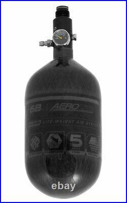 HK Army Aerolite Carbon Fiber HPA Paintball Tank Air System 68ci 4500 psi Smoke