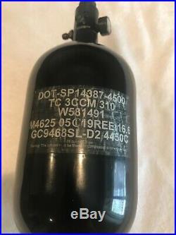 HK Army Aerolite Extra Lite 68/4500 Carbon Fiber Air Tank w Aerolite2 Pro Reg