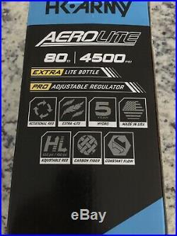 HK Army Aerolite Extra Lite 80/4500 Carbon Fiber Air Tank w Aerolite2 Pro Reg