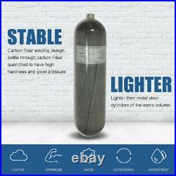 HPDMC NEW Carbon Fiber 3L Scuba Air Cylinder 4500psi PCP Tank M181.5