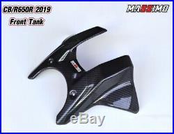 Honda cbr650r cb650r 2019 cover carbon fiber front tank pad protection kevla