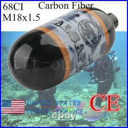 Hunting Carbon Fiber 68CI CE Scuba Air Cylinder 4500psi PCP Tank Thread M18x1.5