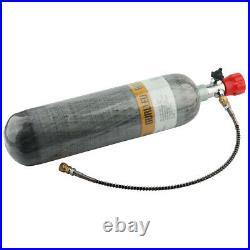 M18x1.5 3L Carbon Fiber Air Tank CE Certified 4500psi WithValve For PCP Paintball
