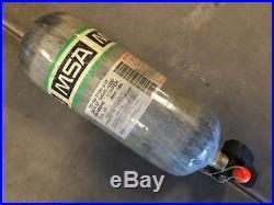 MSA H-60 4500psi 60min Carbon Fiber SCBA Air Pak Bottle Cylinder Tank Mfr 2012