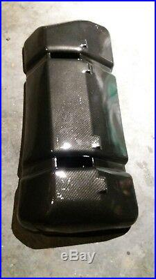 Mustang Foxbody 5.0 Gas Fuel Tank Cover Fox Body Carbon Fiber Hydro dipped cover