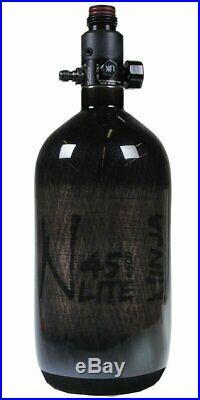 NINJA PAINTBALL CARBON FIBER AIR TANK 45/4500 Translucent Black UL