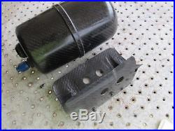 Nascar Carbon Fiber Dry Sump Overflow Tank With Mount And Reusable Filter Vent