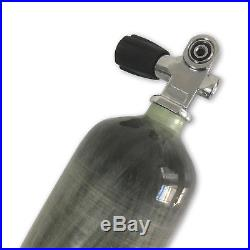 New 3L CE diving carbon fiber air tank 300bar 4500psi scuba with valve