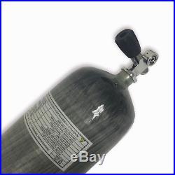 New diving 9L 300bar 4500psi CE gas cylinder carbon fiber scuba with valve