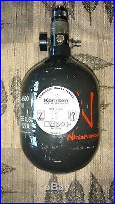 Ninja 45ci 4500psi Carbon Fiber HPA Paintball Tank Fresh Hydro
