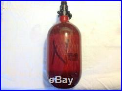 Ninja Carbon Fiber HPA Tank 68CU 4500PSI Translucent Red Paintball Made In USA
