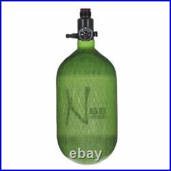 Ninja LITE TRANSLUCENT 68/4500 Carbon Fiber Compressed Air Paintball Tank Lime