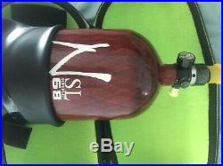 Ninja Lite Carbon Fiber Air Tank 68/4500 Red & Case V2