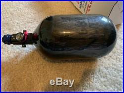 Ninja Lite Carbon Fiber HPA Tank 68CU 4500PSI Carbon Fiber Black Paintball USA