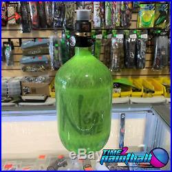 Ninja Lite Carbon Fiber Paintball / Airsoft Tank 68/4500 PRO V2 SLP Reg Lime