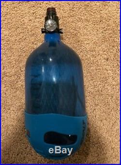 Ninja Lite Translucent Blue Carbon Fiber Air Tank 68/4500 w Standard Adj Reg