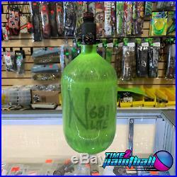 Ninja Lite Translucent Carbon Fiber Air Tank Lime 68/4500 with Regulator