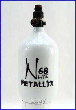 Ninja Metallix Carbon Fiber Paintball Tank 68/4500 Pro V2 Reg Crystal White