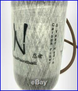 Ninja Paintball 4500psi Grey Ghost Carbon Fiber Tank