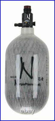 Ninja Paintball Carbon Fiber Air Tank 68/4500 Grey Ghost Ul