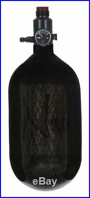 Ninja Paintball Carbon Fiber Air Tank 68/4500 Translucent Black Ul