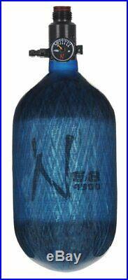 Ninja Paintball Carbon Fiber Air Tank 68/4500 Translucent Blue Std