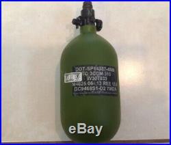 Ninja Paintball Made In The USA Carbon Fiber 68CI 4500PSI Tank Green Fresh Hydro