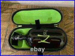 Ninja Paintball Sl2 Carbon Fiber Air Tank 77/4500 Pro, Black/green, Exalt Case
