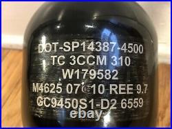 Ninja Paintball co2 tank 1150/4500 carbon fiber