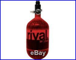 Ninja RIVAL 68 ci 4500 psi Nitrogen Paintball Carbon Fiber HPA Tank Red NEW