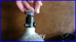 Ninja carbon fiber air tank with adjustable regulator 68/4500 withgrey zip up cove