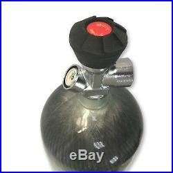 Outdoor Sports 6.8L CE Carbon Fiber PCP Tank 4500psi Air Cylinder with Valve