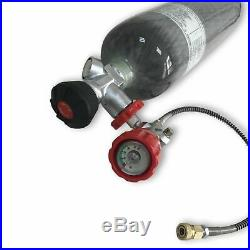 PCP 3L Carbon Fiber CE 30Mpa 4500Psi Pressure Air Tank SCBA Cylinder&Regulator