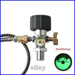 PCP 4500psi 3L CE Air Tank Carbon Fiber Gauge&Hose High Pressure Valve Paintball