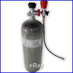 PCP Air Gun CE Tank Carbon Fiber 9L Bottle 4500Psi Cylinder Pellets Mfr 2018