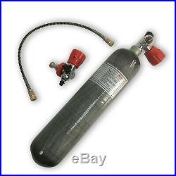 PCP Air Rifle 2L CE 4500psi Diving Bottle Carbon Fiber Scuba Tank Refill Sets