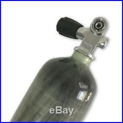 PCP Airguns 3L CE 4500Psi Scuba Tank Carbon Fiber Diving Cylinder with Valve