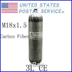 PCP Paintball Carbon Fiber M18x1.5 Thread 3L Tank Air Cylinder (Empty Tank) US