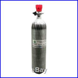 PCP Scuba Tank 4500psi 3L M18x1.5 Cylinder Carbon Fiber With Valve High Pressure