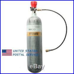 Paintball 3L CE PCP 4500Psi Air Tank Carbon Fiber Scuba M18x1.5 Valve Filling
