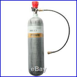 Paintball CO2 Air Tank 3L CE Carbon Fiber M18x1.5 300Bar With Valve Regulator US